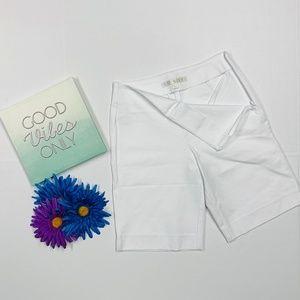 Boston Proper White High Waist Shorts
